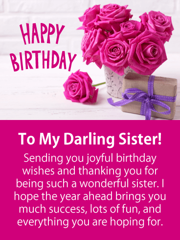 Happy Birthday Messages For Lovely Sister