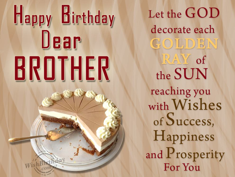 Happy birthday wishes to brother sister happy birthday to you happy birthday wishes to brother voltagebd Gallery