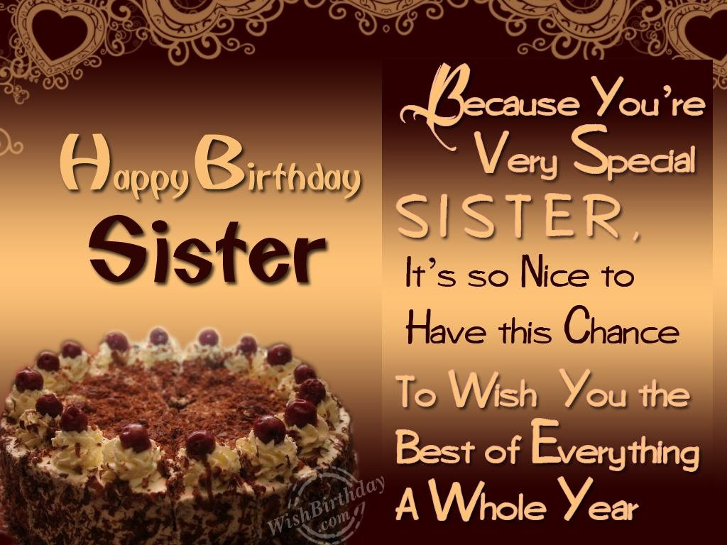 Happy birthday wishes to brother sister happy birthday to you happy birthday wishes to sister m4hsunfo