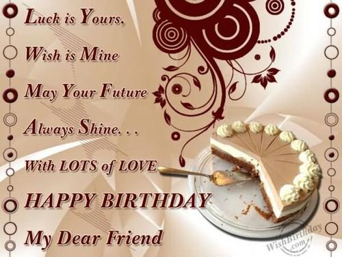 happy birthday to dear friend