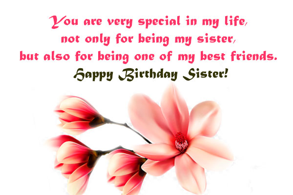 Best Birthday Wishes for Sister